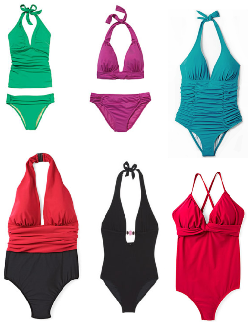 Swimsuits for the apple shape