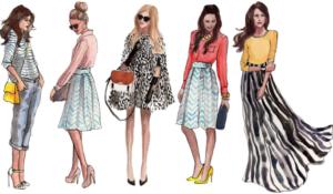 fashionable women 2